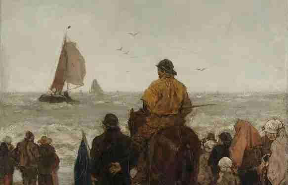 Ankunft der Boote
