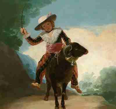 Niño sobre un carnero