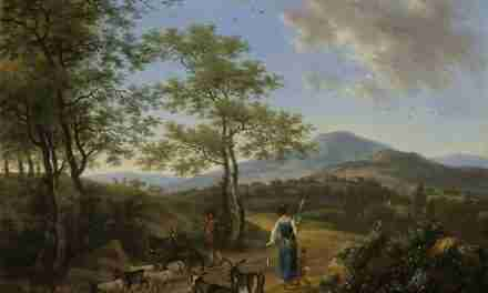 Italian landscape with shepherds