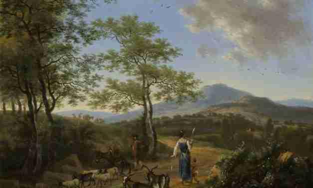 Italienische Landschaft mit Hirten