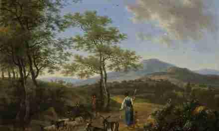Paisagem italiana com pastores