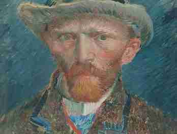 Autorretrato con sombrero de fieltro gris