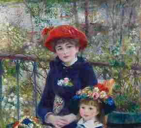 Two Sisters, On the Terrace